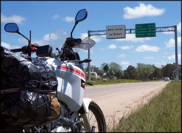 Fronteira com Uruguai, entrada no Brasil